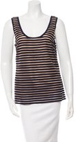 Lela Rose Sleeveless Striped Top
