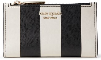 Kate Spade Spencer Stripe Small Leather Bifold Wallet