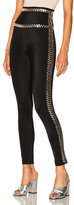 Norma Kamali Side Seam Stud Leggings in Black.