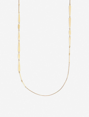 Kendra Scott Averil 14ct gold-plated brass long necklace