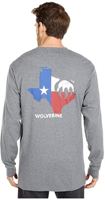Wolverine FR (Flame Resistant) Long Sleeve Graphic Tee - Texas (Ash) Men's Clothing
