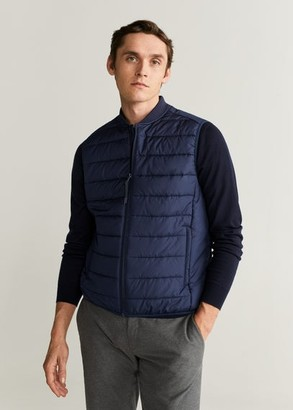 MANGO Water-repellent quilted gilet