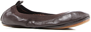 Yosi Samra The Classic Brown Leather Flat