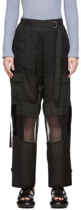 Sacai Black Combo Cargo Trousers