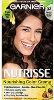 Garnier Nutrisse Nourishing Color Creme, 33 Darkest Golden Brown (Packaging May Vary)
