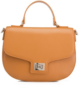 Laurèl Leather Satchel Crossbody