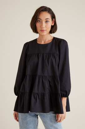 Seed Heritage Tiered Smock Blouse