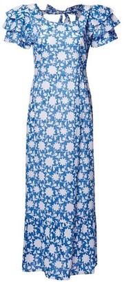 Pink City Prints - Seville Blue Dress - X Small