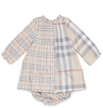 Burberry Kids Cotton Check Dress and Bloomers Set
