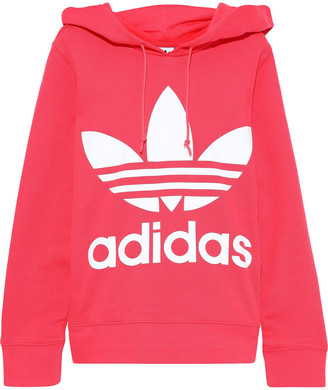 adidas Trefoil Printed French Cotton-terry Hoodie