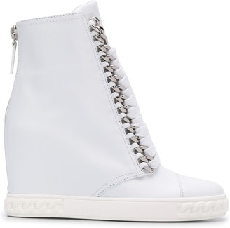 Casadei Lace Up Wedge Boots