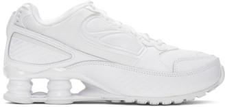 Nike White Shox Enigma Sneakers