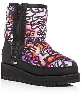 UGG Women's Ridge Grafitti Pop Platform Cold-Weather Platform Boots