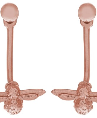 Olivia Burton Ladies Rose Gold Plated Sterling Silver 3D Bee Earrings OBJ16AME02