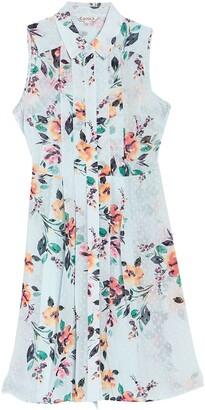 Nanette Lepore Floral Sleeveless Fit & Flare Shirt Dress