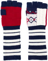Burberry cable knit fingerless gloves