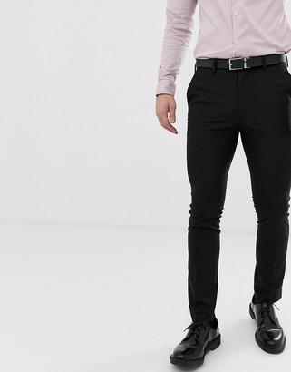 New Look skinny suit pants in black