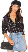 L'Agence Denise Contrast Back Shirt in Black. - size M (also in S,XS)
