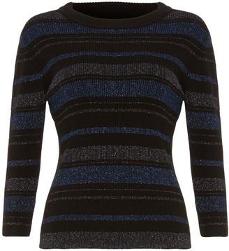 Phase Eight Samina Shimmer Stripe Knit