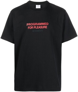 Vetements slogan-print cotton T-shirt