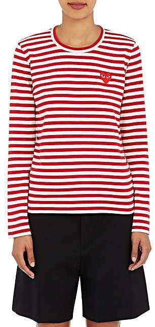 4cd7eee9bc Women's Red Striped Long Sleeve Shirt - ShopStyle