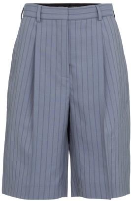 Acne Studios Pinstriped wool shorts