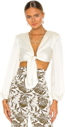 Bronx and Banco Tie Blouse