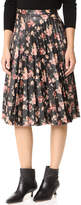 BB Dakota Abela Printed Pleated Skirt