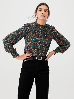 Warehouse Fearne Ditsy Floral Top - Multi