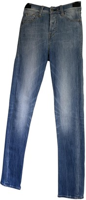 HTC Blue Cotton - elasthane Jeans for Women