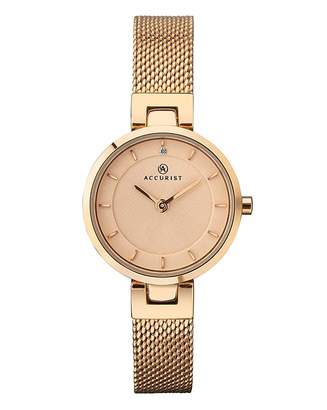 Accurist Marisota Ladies Rose Gold Mesh Watch