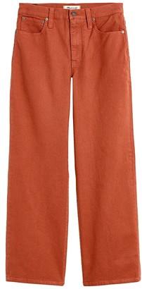 Madewell Slim Wide Leg Pants (Warm Umber) Women's Casual Pants