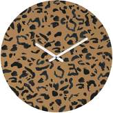 Deny Designs Leeana Benson Cheetah Print Round Clock