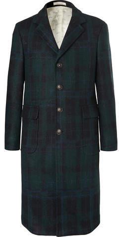 Massimo Alba Checked Virgin Wool Coat
