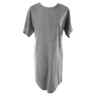 Closed Grey Leather Dress for Women