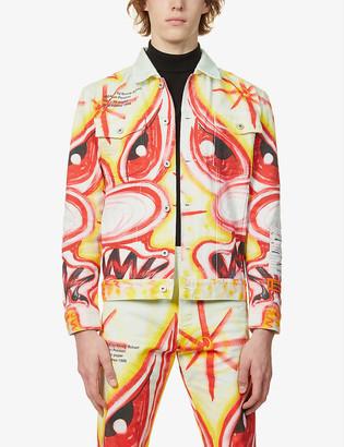 Heron Preston Kenny Scharf graphic-print denim jacket