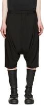 Julius Black Woven Sarouel Shorts