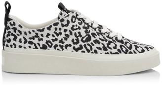 Via Spiga Mae Leopard-Print Leather Sneakers
