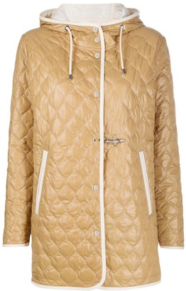 Fay Quilt Hooded Padded Jacket