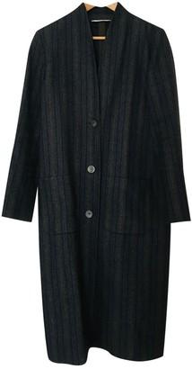 Chloé Stora Anthracite Wool Coat for Women