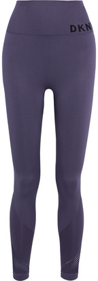 DKNY Mesh-paneled Printed Stretch Leggings
