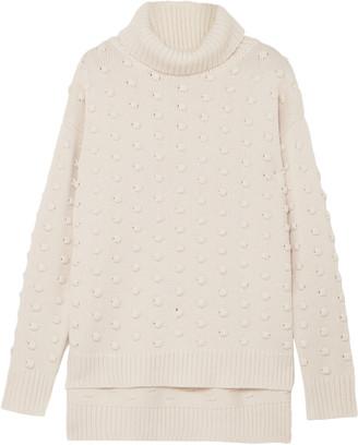 Lela Rose Wool And Cashmere-blend Turtleneck Sweater