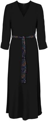 Vero Moda Wrapover Maxi Dress in Paisley Print