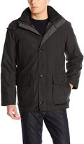London Fog Men's Eagle Creek Parka with Detachable Sherpa Lined Hood