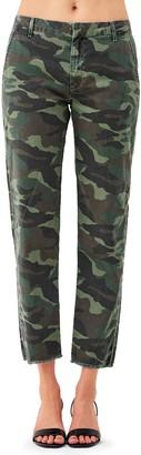 Sundry Camo N60 High Waist Crop Straight Leg Pants