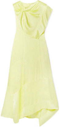3.1 Phillip Lim Asymmetric Twist-front Satin Midi Dress