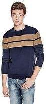 GUESS Men's Deo Striped Sweater