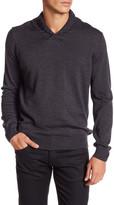 Thomas Dean Shawl Collar Wool Sweater