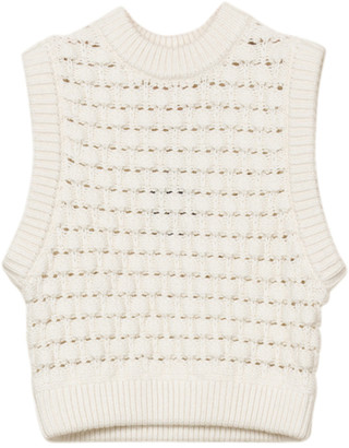 By Ti Mo Oversized Cotton-Knit Sweater Vest