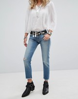 Denim & Supply By Ralph Lauren Cropped Skinny Jeans With Distressing
